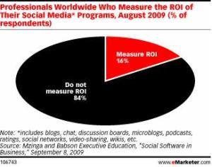 Executives don't measure their online ROI